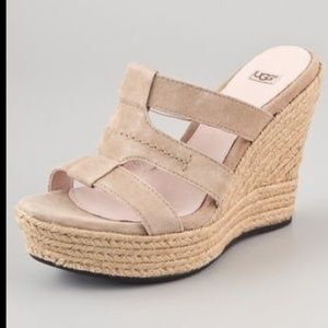 Ugg Tawnie Suede Wedge Sandals